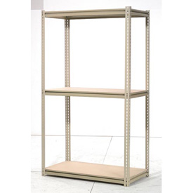 "High Capacity Starter Rack 48""W x 24""D x 84""H With 3 Levels Wood Deck 1500lb Cap Per Shelf"