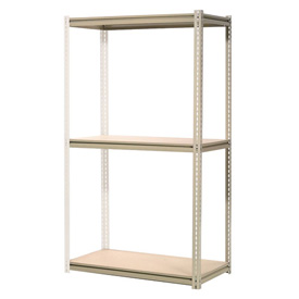 "High Capacity Add-On Rack 48""W x 48""D x 96""H With 3 Levels Wood Deck 1500 Lb Cap Per Level"