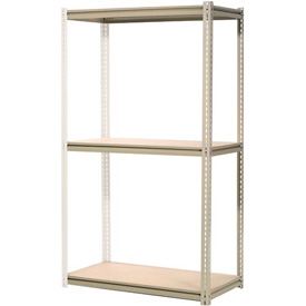 "High Capacity Add-On Rack 48""W x 24""D x 84""H With 3 Levels Wood Deck 1500 Lb Cap Per Level"