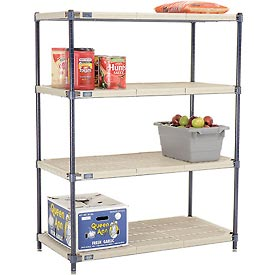 Vented Plastic Shelving 42x18x54 Nexelon Finish