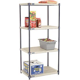 Vented Plastic Shelving 30x18x63 Nexelon Finish