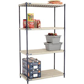 Vented Plastic Shelving 42x24x74 Nexelon Finish