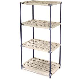 Vented Plastic Shelving 54x24x74 Nexelon Finish