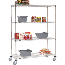 Nexel® Stainless Steel Wire Shelf Truck 72x18x80 1200 Lb. Capacity