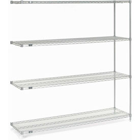 "Nexel Stainless Steel Wire Shelving Add-On 72""W X 18""D X 74""H"