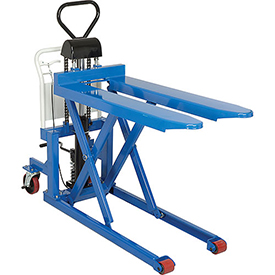 Manual High Lift Skid Truck 2200 Lb. Capacity 20-1/2 x 44-1/2 Forks