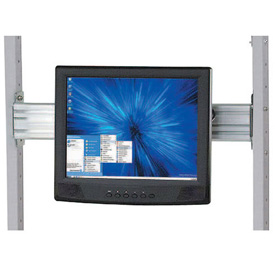 "Flat Panel Monitor Track For 24"" LAN Station"