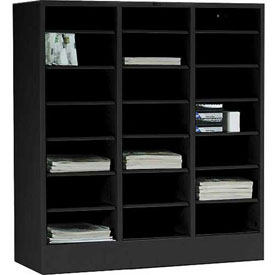 Tennsco Literature Organizer Cabinet 5075 03 - 21 Openning Legal Size- Black