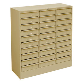 "Tennsco Drawer Cabinet 2085 214 - 30 Drawer Letter Size,30 5/8""W X 11-5/8""D X 33""H, Sand"