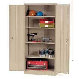 Global™ Storage Cabinet Easy Assembly 36x18x78 Tan