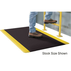 Supreme Sliptech Mat 11/16 Thick 4ft Wide Full 60ft Roll Black W/Yellow Border