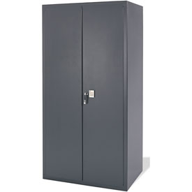 Electronic Locking Storage Cabinet 48x24x72 Charcoal