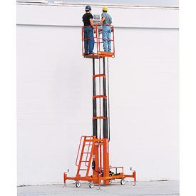 "Two Person Lift W/ AC Power 28' Max Ht, 28""L x 36""W Platform"
