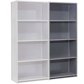 "Steel Shelving 18 Ga 48""Wx18""Dx85""H Closed Clip Style 5 Shelf Add-On"