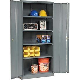 Global™ Storage Cabinet Assembled 36x18x78 Gray