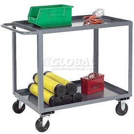 Jamco Gray All Welded 3 Shelf Stock Cart SC236 36x24 1200 Lb. Capacity
