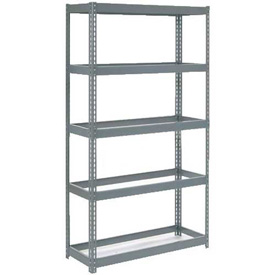 "Extra Heavy Duty Shelving 48""W x 18""D x 60""H With 5 Shelves, No Deck"