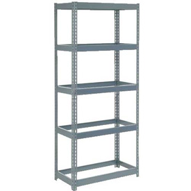 "Extra Heavy Duty Shelving 36""W x 18""D x 84""H With 5 Shelves, No Deck"