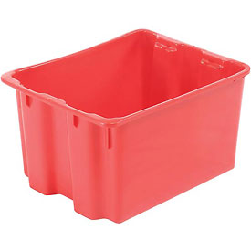 """LEWISBins SN2117-12 Polyethylene Container 21""""L x 17""""W x 12""""H, Red"""
