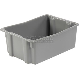 "LEWISBins SN2618-10 Polyethylene Container 26""L x 18-3/4""W x 10""H, Gray"