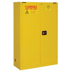 "Global&#8482 Flammable Cabinet - 45 Gallon - Self Close Double Door - 43""W x 18""D x 65""H"