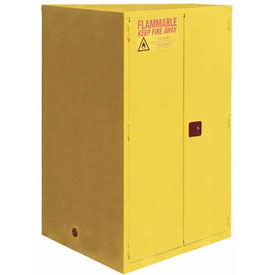 "Global™ Flammable Cabinet - 60 Gallon - Self Close Double Door - 34""W x 34""D x 65""H"