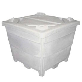 Bonar Plastics FDA Plastic Storage Container With Lid 1927200M95402 - 44-1/2 X 44-1/2 X 36
