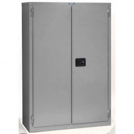 "Jamco Fire Resistant Cabinet BR43-GP, All Welded 34""W x 34""D x 65""H Gray"