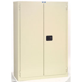 "Jamco Fire Resistant Cabinet BR29-AP, All Welded 43""W x 18""D x 65""H Putty"