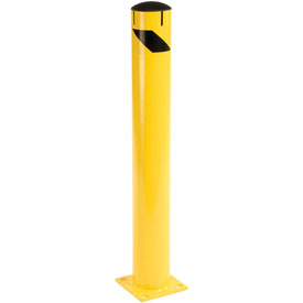 "Steel Bollard With Removable Plastic Cap & Chain Slots - Existing Concrete 42"" x 5-1/2"""