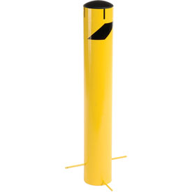 "Steel Bollard With Removable Plastic Cap & Chain Slots For Underground 36"" x 5-1/2"""