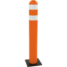 "Eagle Poly Guide Post Delineator 42"" x 5.75"" Dia Orange, 1734-OR"