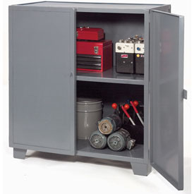 "Jamco Extra Heavy Duty Storage Cabinet MH348-GP - Welded 12 Gauge 48""W x 30""D x 54""H Gray"
