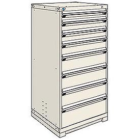 Rousseau Modular Storage Drawer Cabinet 30x27x60, 8 Drawers (5 Sizes) w/o Divider, w/Lock, Beige