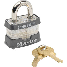 "Master Lock® Keyed Padlock - 3/4"" Shackle - Keyed Alike"