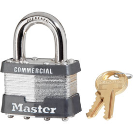 "Master Lock® Keyed Padlock - 15/16"" Shackle - Keyed Alike - Pkg Qty 3"