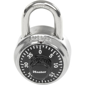 "Master Lock® Combination Padlock - 3/4"" Shackle - With Key Access"