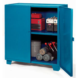 "Jamco Extra Heavy Duty Storage Cabinet MH260-BP - Welded 12 Gauge 60""W x 24""D x 54""H Blue"