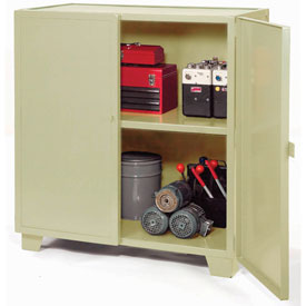 "Jamco Extra Heavy Duty Storage Cabinet MH348-AP - Welded 12 Gauge 48""W x 30""D x 54""H Putty"