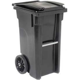 Otto Mobile Trash Container - 35 Gallon Black