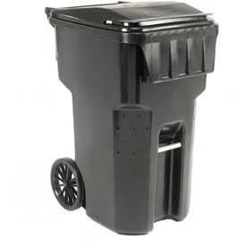 Otto Mobile Trash Container - 95 Gallon Black