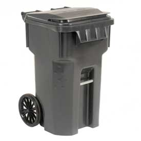 Otto Mobile Trash Container - 65 Gallon Gray