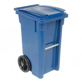 Otto Mobile Trash Container - 35 Gallon Blue