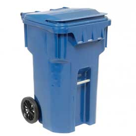 Otto Mobile Trash Container - 65 Gallon Blue