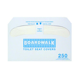 Boardwalk Premium 1/2 Fold Toilet Seat Covers, 250 Covers/Sleeve 20/Case - Bwk K5000 - BWKK5000