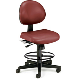 OFM Antimicrobial Stool - Vinyl - Burgundy