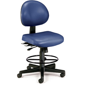 OFM Antimicrobial Stool - Vinyl - Blue