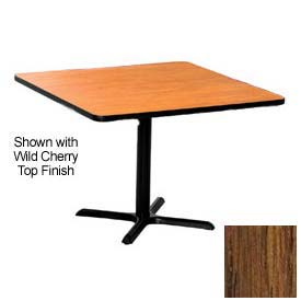 Square 36x36 Laminate Top Table Medium Oak