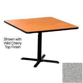 Square 36x36 Laminate Top Table Gray Nebula