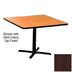 Square 36x36 Laminate Top Table Mahogany